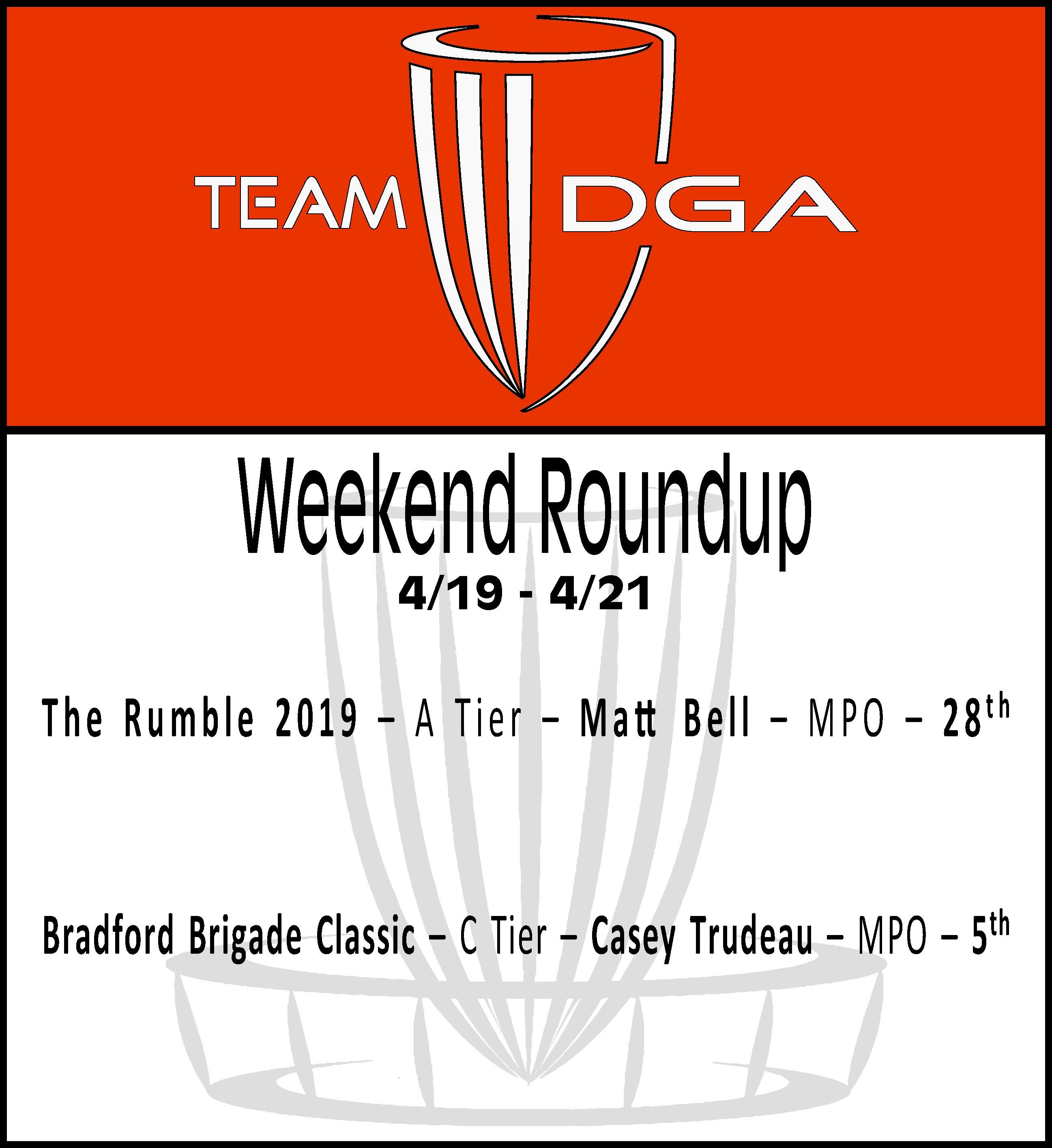 Team DGA Weekend Roundup 4/19 - 4/21