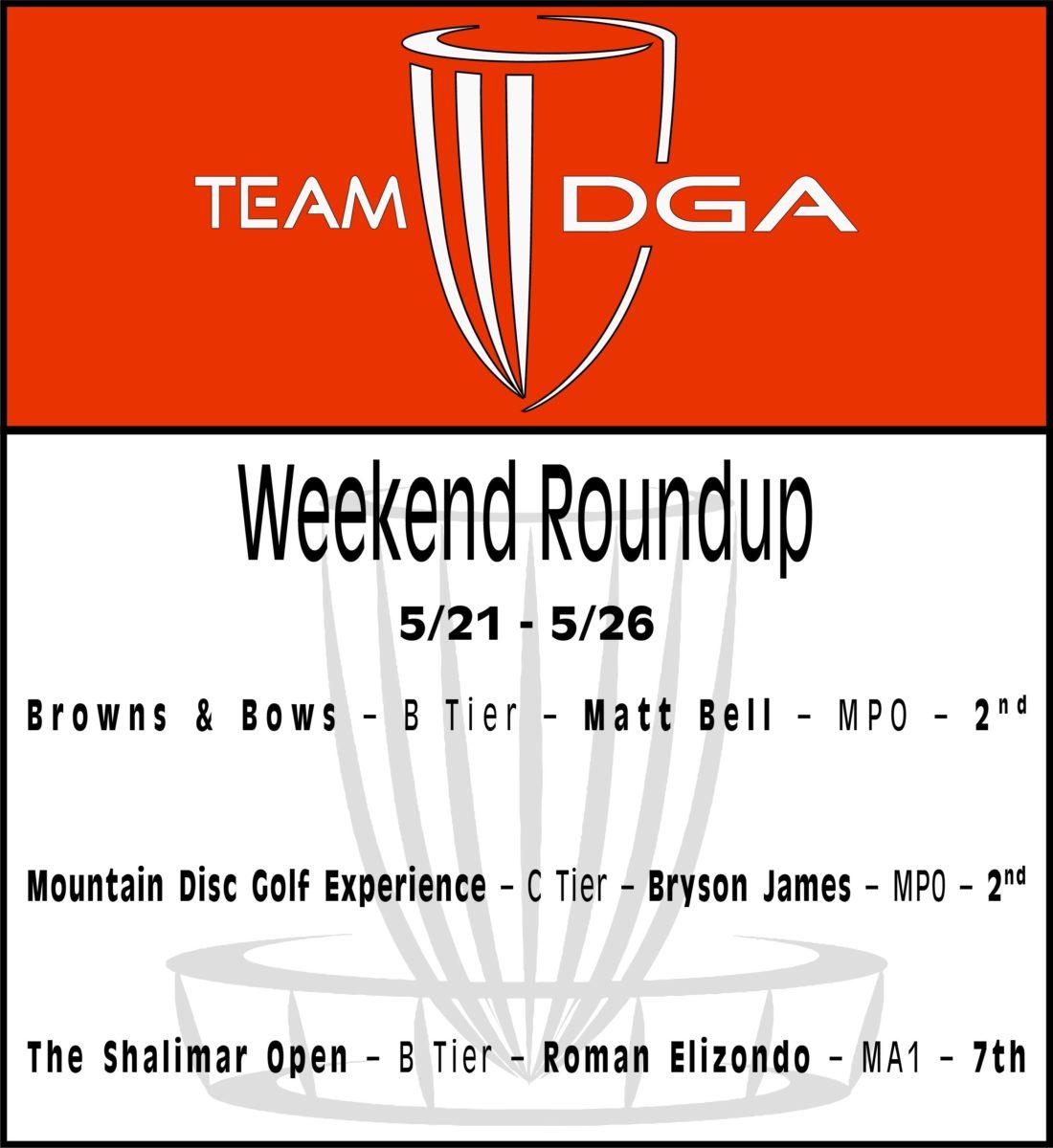 Team DGA Weekend Roundup 5/21 - 5/26