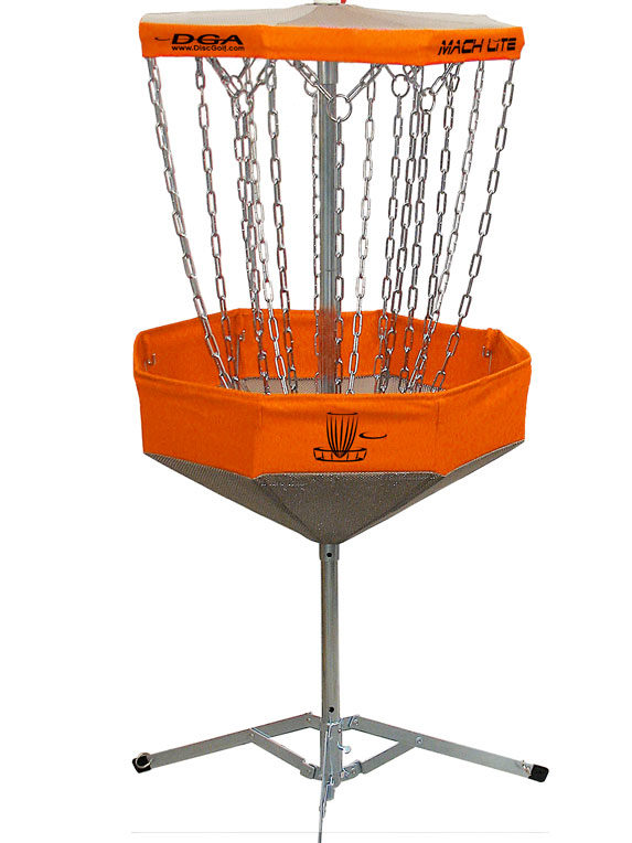 Mach Lite Portable Practice Basket - Collapsible Disc Golf Target-Orange
