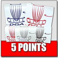 Tournament Sponsorship Cash Back Rewards-5-points-decals
