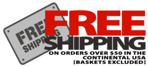 Free shipping on orders over $50 in the continentalUSA.