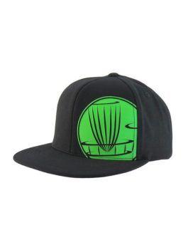 Circle Logo Snapback Flat Bill Cap