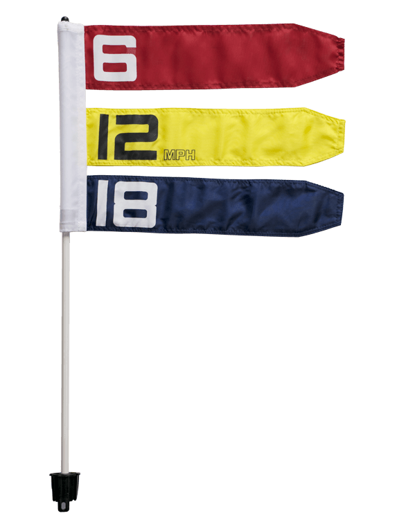 Direct Hit Disc Golf Wind Flag - 6, 12, 18 mp/h
