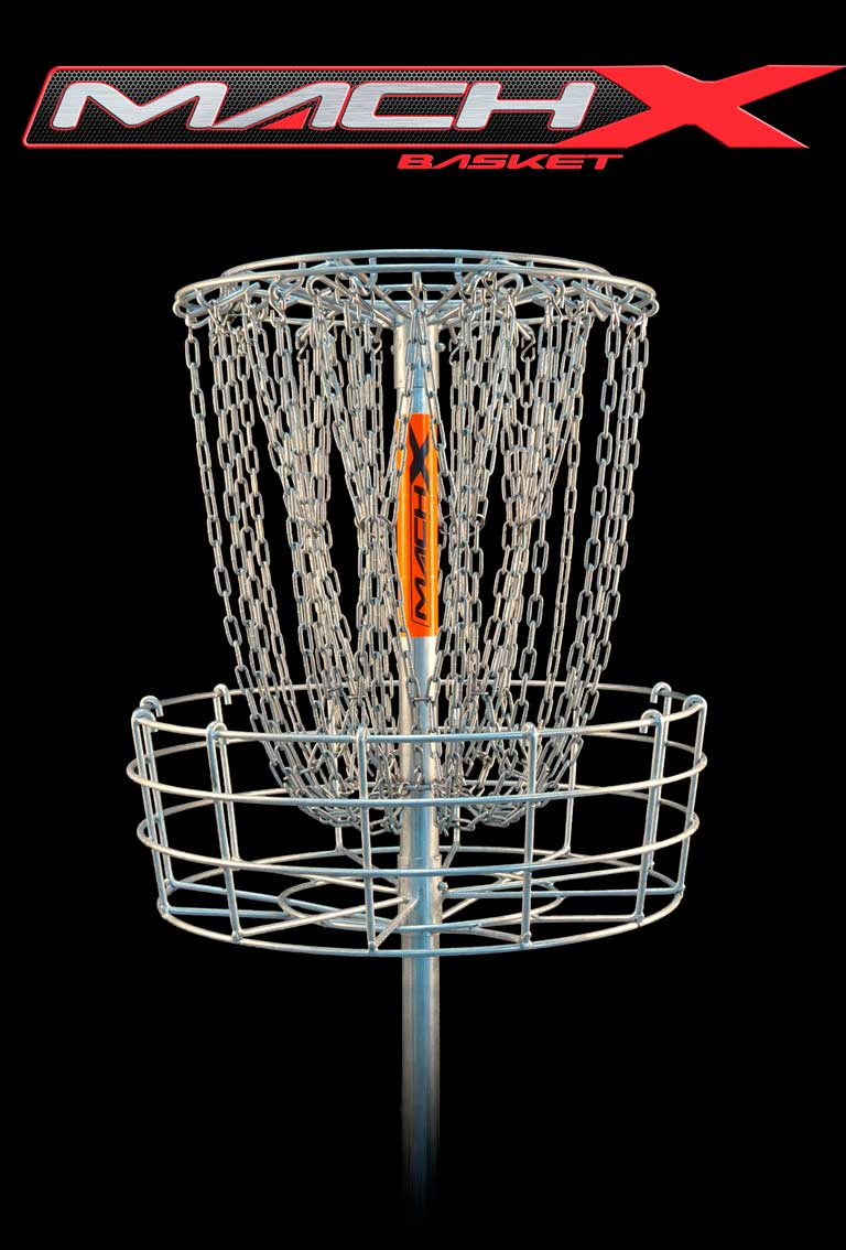 Mach X disc golf basket