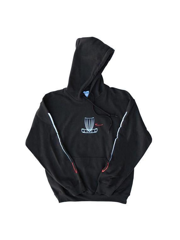 DGA Pullover Hoodie Black Disc Golf Sweatshirt