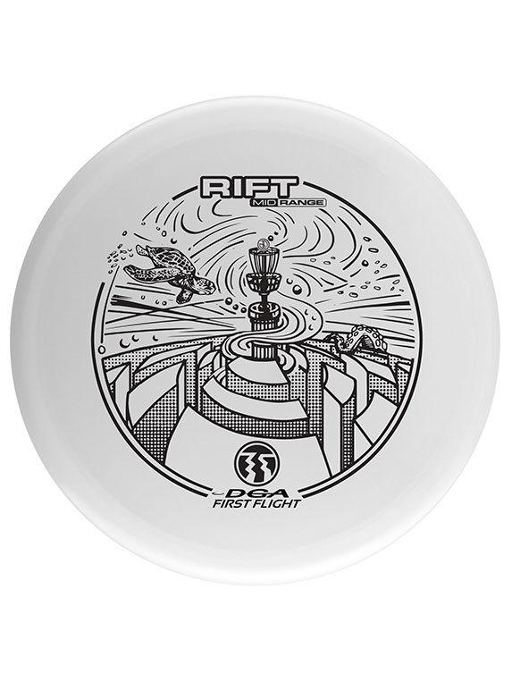 DGA Rift midrange disc first flight white custom Dorn Art