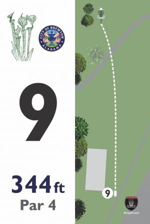 12x18 color deluxe tee sign Brewton, AL.