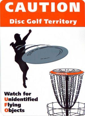 Travel Disc Golf Courses | Martin Disc Golf Club  |Frisbee Golf Sign