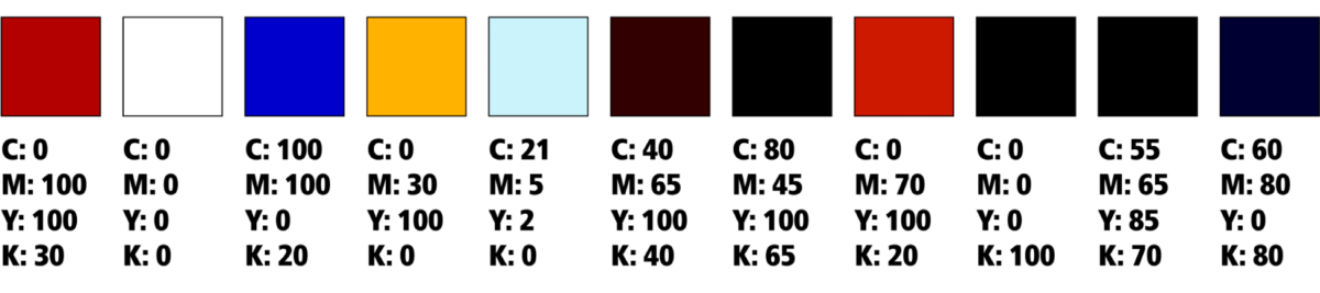 Custom tee sign color swatch options