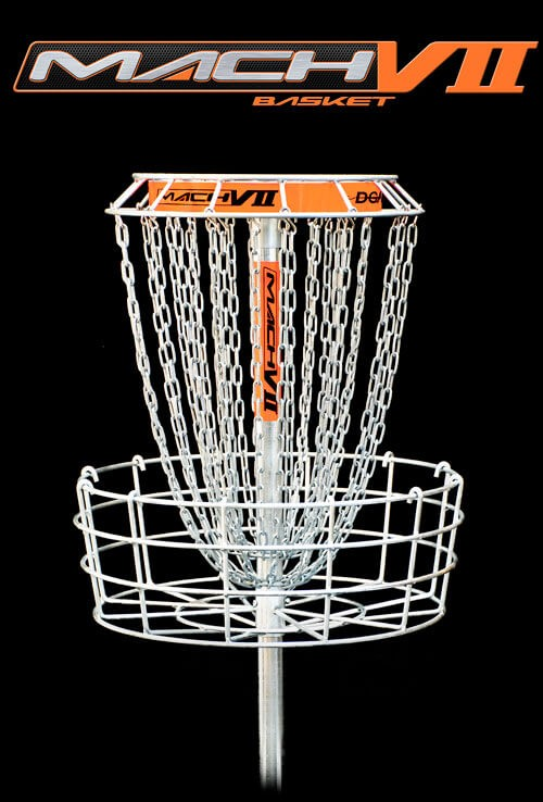 9924b825d DGA Mach 7 Disc Golf Basket provides visibility without interference with  unequaled performance from a 28. Click to enlarge
