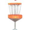 Mach Lite Portable Practice Basket Foldable Disc Golf Target-Orange Full View