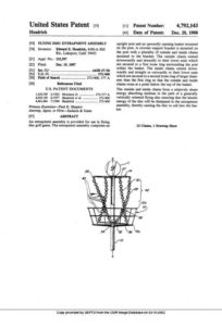 Disc Golf Basket Crossing Chain Invention