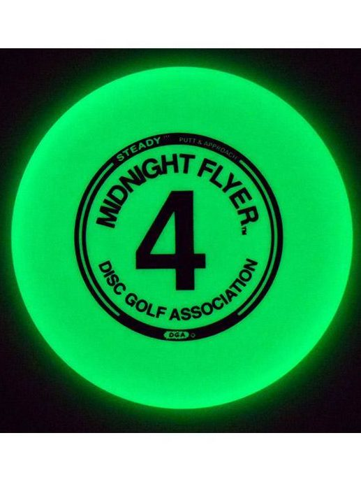 DGA Midnight Flyer Number 4 Steady Putt and Approach Glow Disc