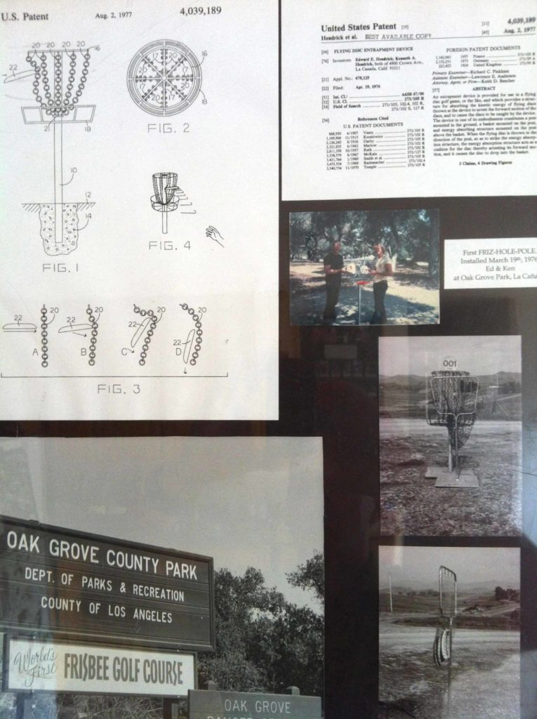 The first frisbee disc golf course and Disc Pole Hole Patent.