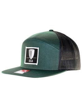 Patch 7-Panel Mesh Snapback Flat Bill Cap
