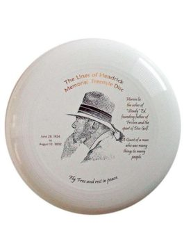 """Steady"" Ed Headrick Limited Run ""Lines of Headrick Memorial Freestyle Disc"""